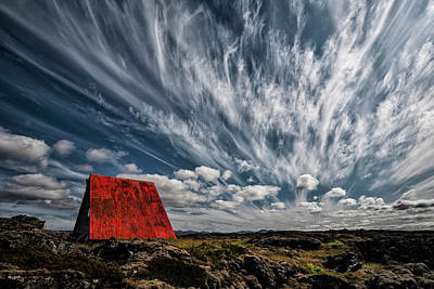 Red Roof Photograph - Rusty Roof by ?orsteinn H. Ingibergsson