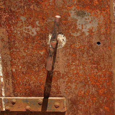 Rusty Safe Front Art Print