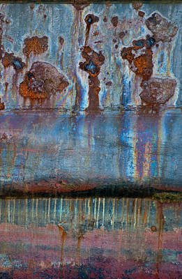 Photograph - Rusty Steampunk Abstract by Jani Freimann