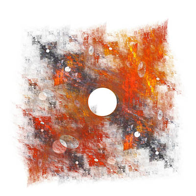 Abstract Digital Color Colorful Expressionism Impressionism Painting - Rusty Times by Steve K