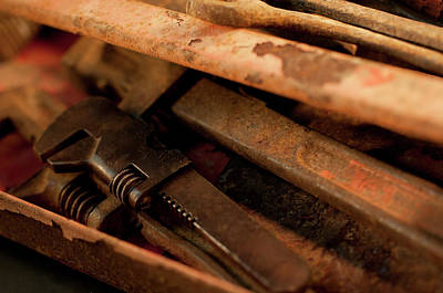 Photograph - Rusty Toolbox And Tools by Wilma  Birdwell