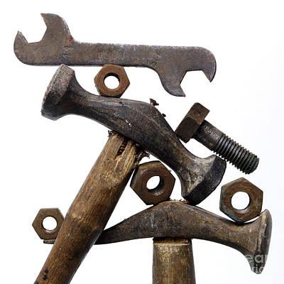 Rusty Tools Art Print by Bernard Jaubert