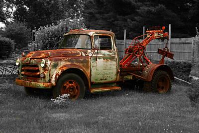 Rusty Tow Truck Art Print