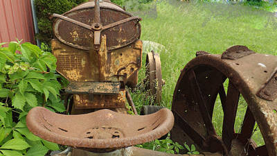Photograph - Rusty Tractor by Joyce  Wasser