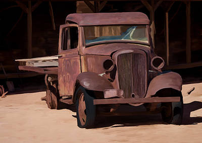 Rusty Truck 04 Art Print by Wally Hampton