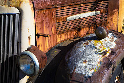 Truck Photograph - Rusty Truck Detail by Garry Gay