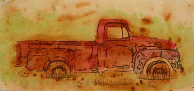 Mixed Media - Rusty Truck by Jenny Williams
