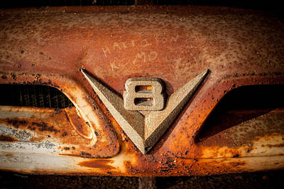 Rusty V8 Art Print by Paul Bartoszek