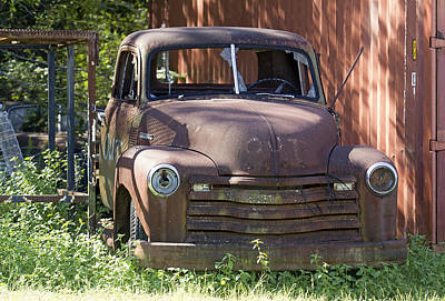 Photograph - Rusty Vintage Pickup Truck by Susan Schroeder