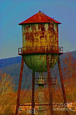 Rusty Water Tower Art Print by Beth Ferris Sale