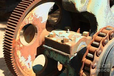Photograph - Rusty Wheel Gear by Carol Groenen