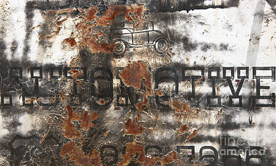 Photograph - Rustys Rough Around The Edges Automotive Abstract by Lee Craig