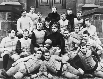 1891 Photograph - Rutger's 1891 Football Team by F.J. Higgins
