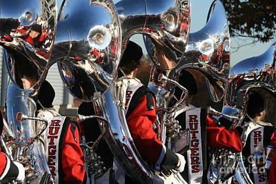 Marching Band Photograph - Rutgers Marching Band by Meehow