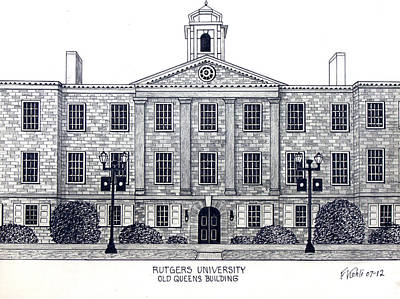 Drawing - Rutgers University by Frederic Kohli