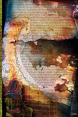 Religious Drawings Digital Art - Ruth 1 by Switchvues Design