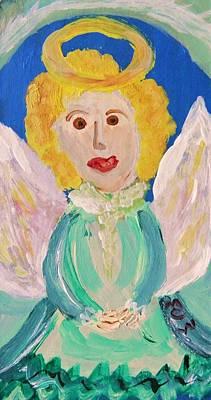 Angel Blues Drawing - Ruth E. Angel by Mary Carol Williams