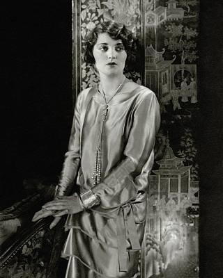 Screen Photograph - Ruth Elder Wearing A Satin Dress by Edward Steichen