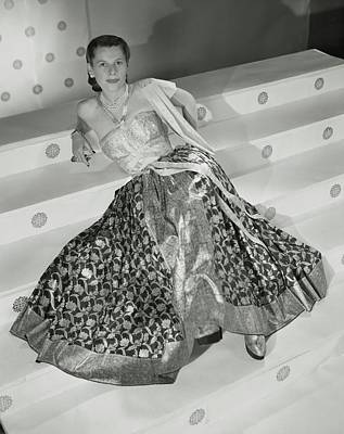 Ruth Photograph - Ruth Gordon Sitting On Stairs by Horst P. Horst