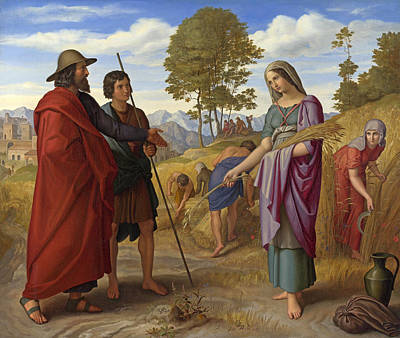 Ruth Painting - Ruth In Boaz's Field by Julius Schnorr von Carolsfeld