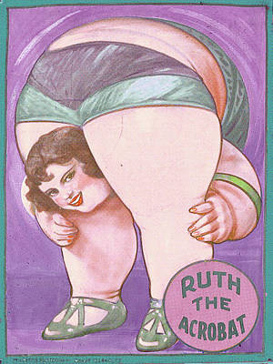 Vintage Circus Painting - Ruth The Acrobat Circus Poster by Tony Rubino