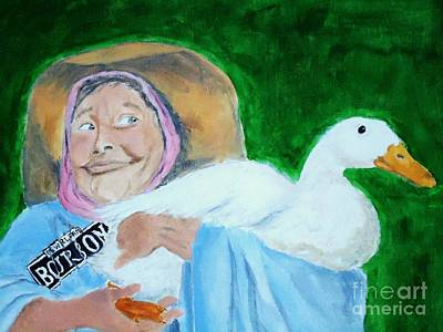 Painting - Ruthie The Duck Lady by Katie Spicuzza