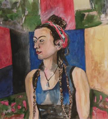 Painting - Ruthie With Braids by Esther Newman-Cohen
