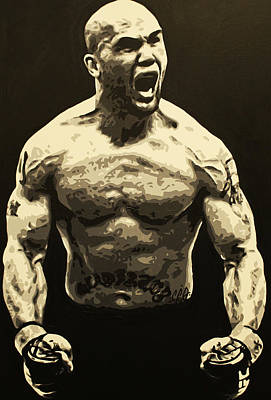 Painting - Ruthless Robbie Lawler by Geo Thomson