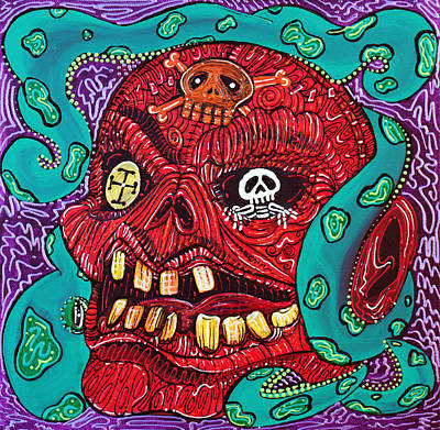 Octopus Painting - Ruthless Roger by Laura Barbosa