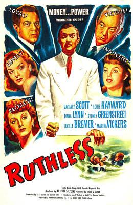 Ruthless, Us Poster, Zachary Scott Art Print by Everett