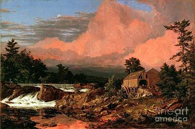 Beautiful Scenery Painting - Rutland Falls - Vermont by Pg Reproductions