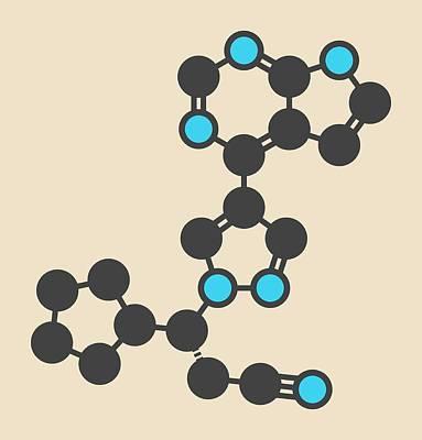 Janus Photograph - Ruxolitinib Cancer Drug Molecule by Molekuul