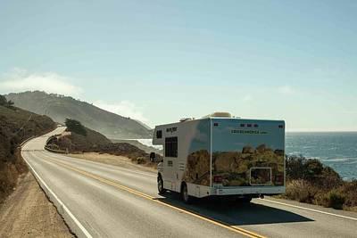 Cruising The Coast Wall Art - Photograph - Rv Driving Down The Highway 101 Coast by Taylor Zann