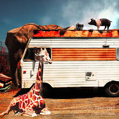 Rv Trailer Park 5d22705 Square Print by Wingsdomain Art and Photography