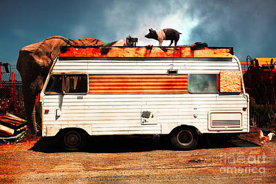 Rv Trailer Park 5d22705 V2 Print by Wingsdomain Art and Photography