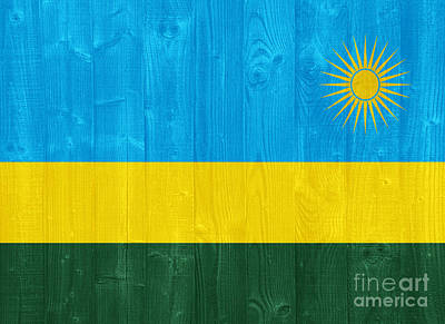 Sports Royalty-Free and Rights-Managed Images - Rwanda flag by Luis Alvarenga