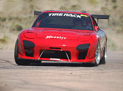 Photograph - Rx7 Race Car Digitally Enhanced by Ernie Echols