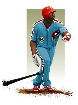 Baseball. Philadelphia Phillies Digital Art - Ryan Howard by Scott Weigner