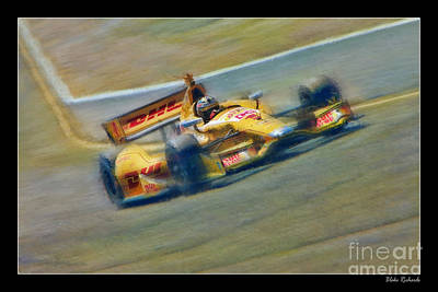 Ryan Hunter-reay Art Print by Blake Richards
