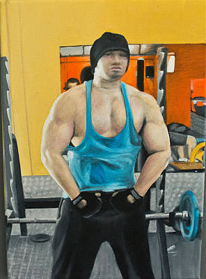 Bodybuilding Painting - Ryan by Mai Briant