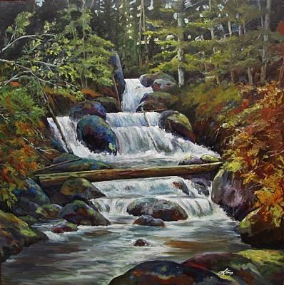 Ryans Falls Art Print by Suzanne Tynes