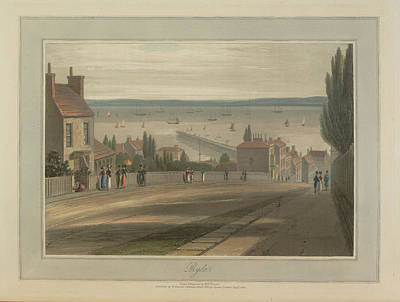 Ryde Coastal Landscape Scenes Art Print by British Library