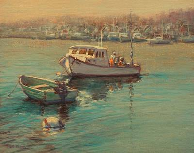 Painting - Rye Harbor Lobstermen by Ken Fiery