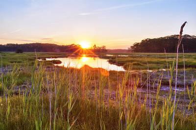 Rye Marsh Sunset Art Print by Eric Gendron