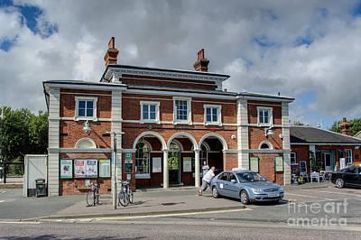 Coastal Town Digital Art - Rye Railway Station by Donald Davis
