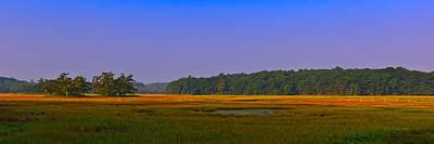 Photograph - Rye Salt Marsh Pano by Jeff Sinon