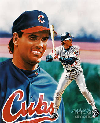Painting - Ryne Sandberg by Dick Bobnick