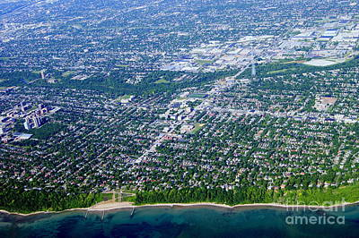 Photograph - S-066 Shorewood Wisconsin From Lake Michigan by Bill Lang