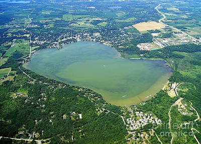 Photograph - S-067 Silver Lake Kenosha Wisconsin by Bill Lang