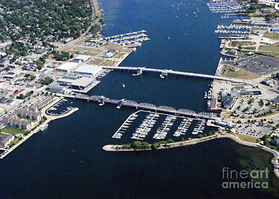 Photograph - S-069 Sturgeon Bay Wisconsin Downtown Marinas by Bill Lang